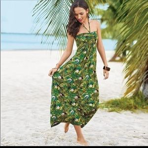 """Mark """"All is Palm"""" tropical maxi dress size 2/4"""